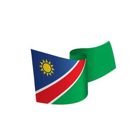 Vlag van Namibië, vectorillustratie