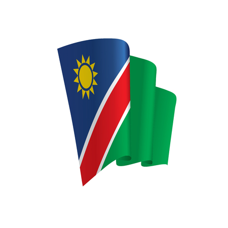 Namibia flag, vector illustration on a white background Illustration