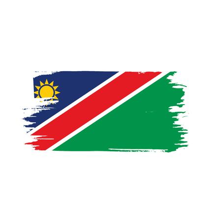 Bandeira da Namíbia, ilustração vetorial em um fundo branco Foto de archivo - 94440657