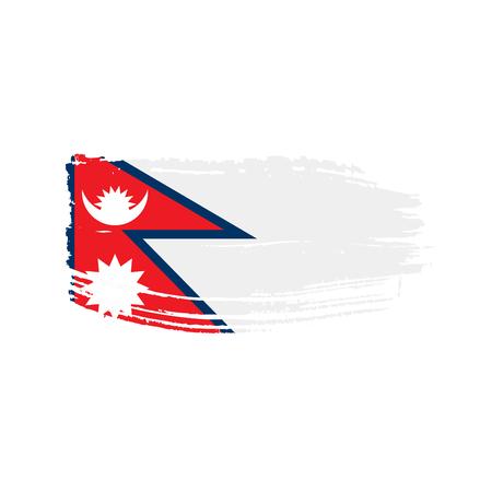 Nepal flag vector illustration