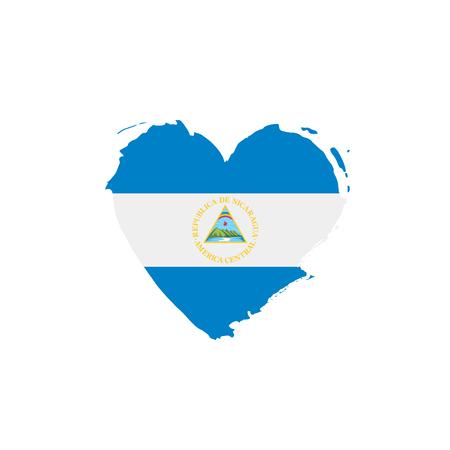 Nicaragua flag, vector illustration on a white background