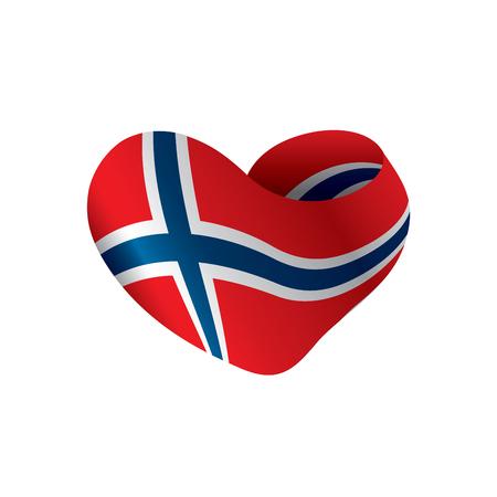 Vlag van Noorwegen, vectorillustratie op een witte achtergrond