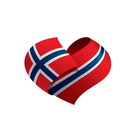 Vlag van Noorwegen, vectorillustratie op een witte achtergrond Stockfoto - 94464536