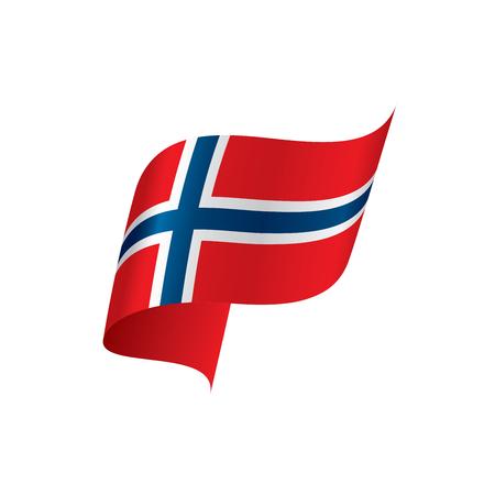 Bandeira da Noruega, ilustração vetorial