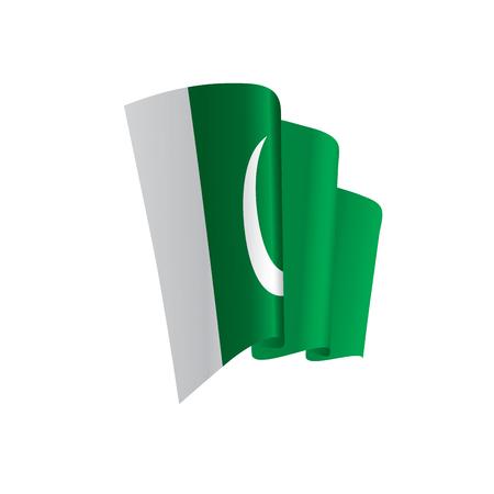 Pakistan flag, vector illustration