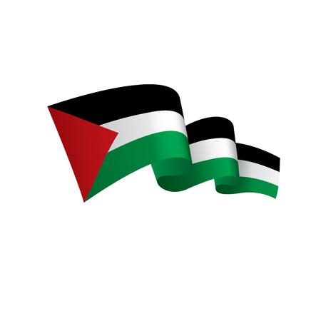 パレスチナの旗、ベクトルイラスト