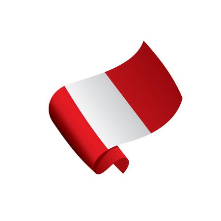 Peru flag, vector illustration Illusztráció