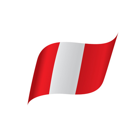 Peru flag, vector illustration Illustration