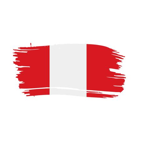 Peru flag, vector illustration Illustration