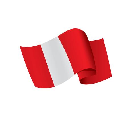 Peru flag, vector illustration  イラスト・ベクター素材