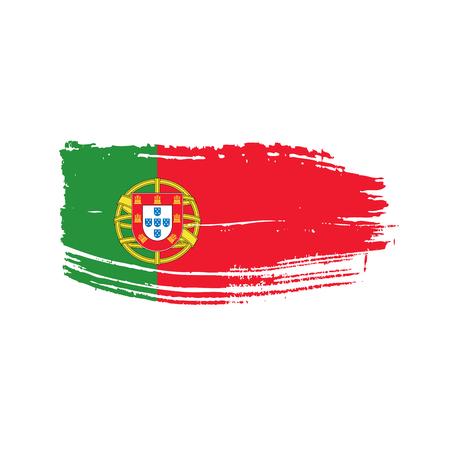 Portugal-Flagge, Vektorillustration auf einem weißen Hintergrund
