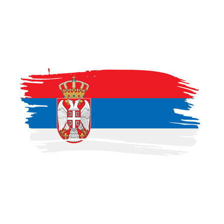 Serbia flag, vector illustration isolated on white background
