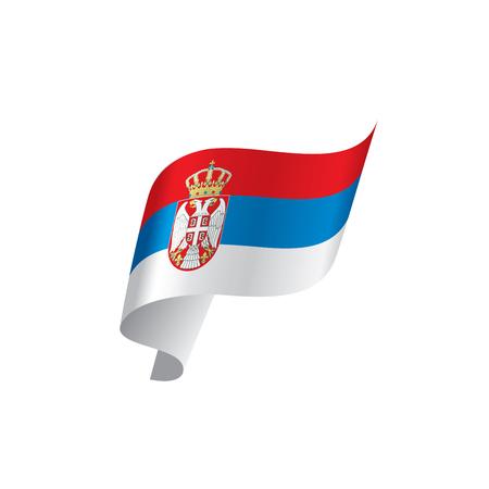 Serbia flag, vector illustration on a white background. Illustration