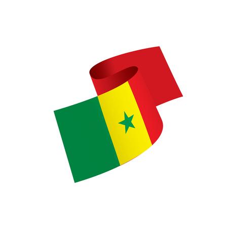 Senegal flag, vector illustration on a white background. Vettoriali
