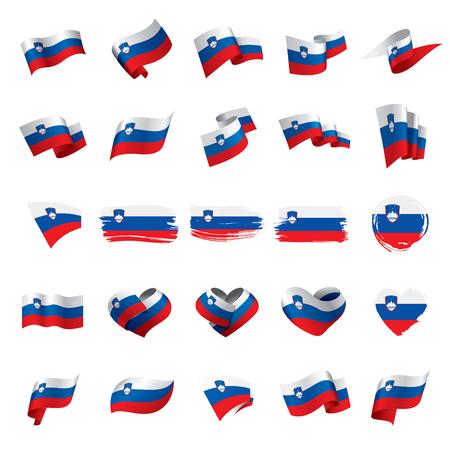 Slovenia flag, vector illustration on a white background.