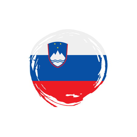Slovenia flag, vector illustration