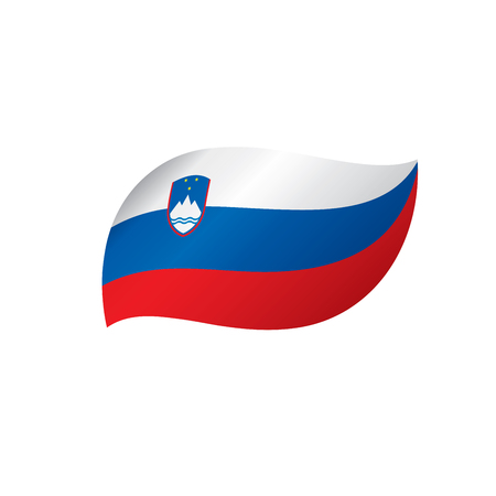 Slovenia flag, vector illustration on a white background.
