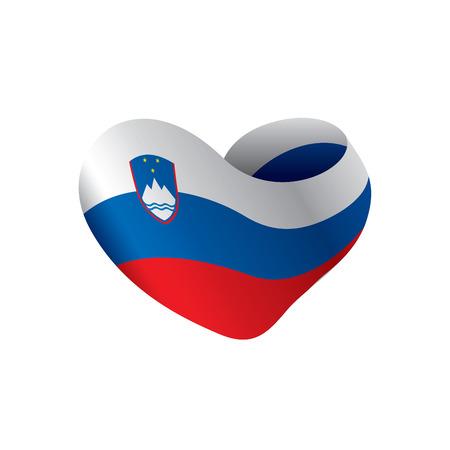 Slovenia flag, vector illustration