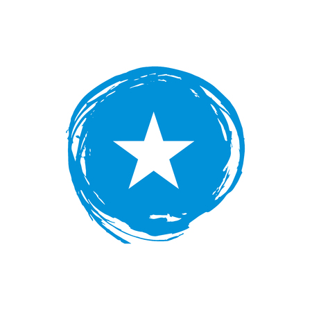 Somalia flag, vector illustration on a white background.
