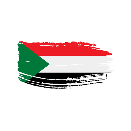 Sudan flag, vector illustration on a white background.