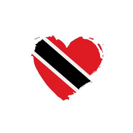 trinidad and tobago flag, vector illustration on a white background