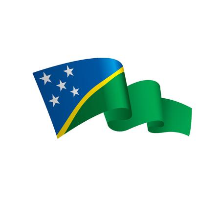 Solomon Islands flag, vector illustration on a white background Illusztráció
