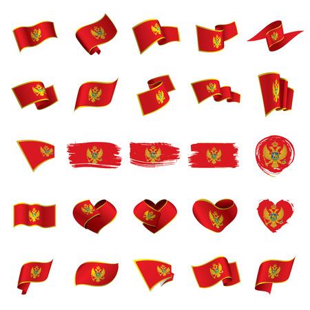 montenegro flag, vector illustration on a white background