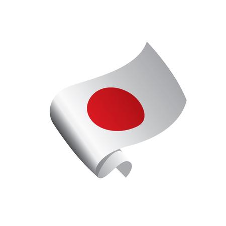 Vlag van Japan, vectorillustratie