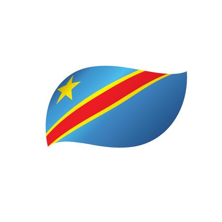 Democratic Republic of the Congo flag. Illustration