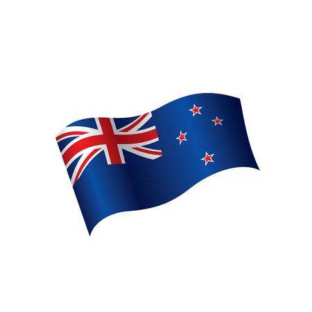 New Zealand flag, vector illustration.