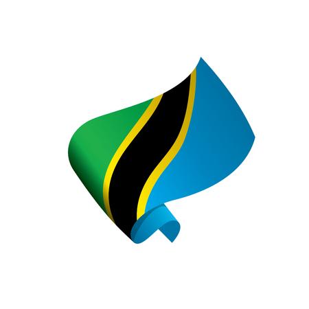 Tanzania flag, vector illustration.