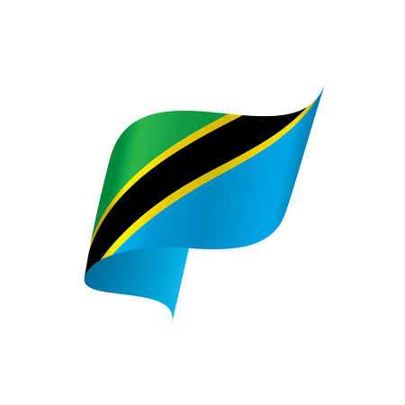 Tanzania flag, vector illustration.