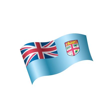 Fiji flag, vector illustration.