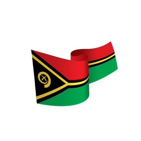Vanuatu flag, vector illustration Ilustração