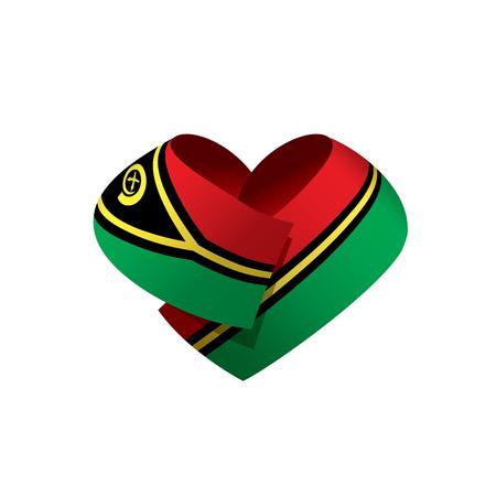Vanuatu flag, vector illustration Illusztráció