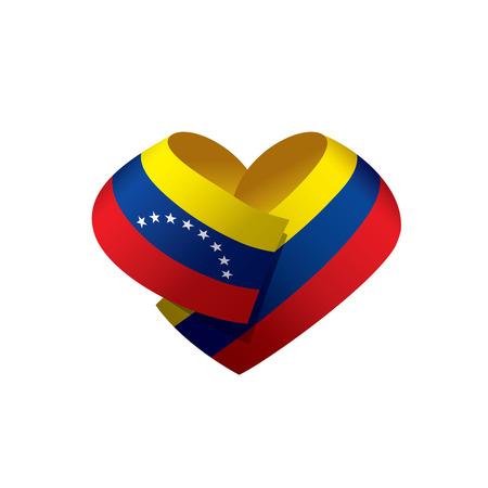 Venezuela flag, vector illustration on a white background
