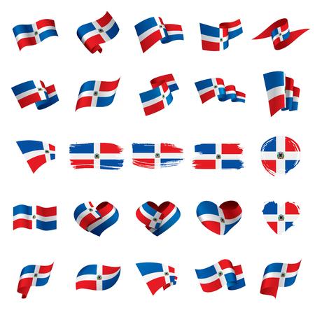 Dominicana flag, vector illustration Stock Illustratie