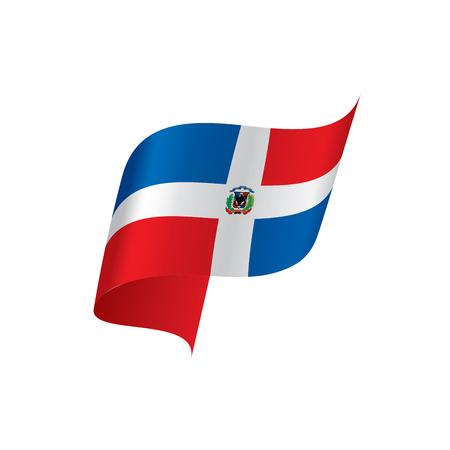 Dominicana flag, vector illustration 矢量图像