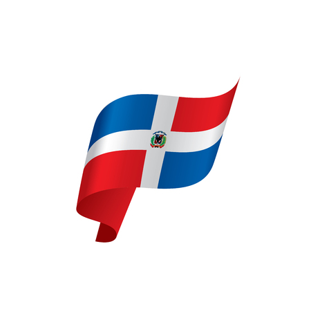 Dominicana flag, vector illustration Çizim
