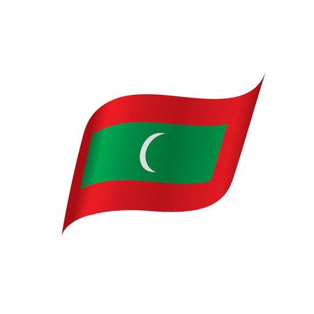 Maldives flag, vector illustration