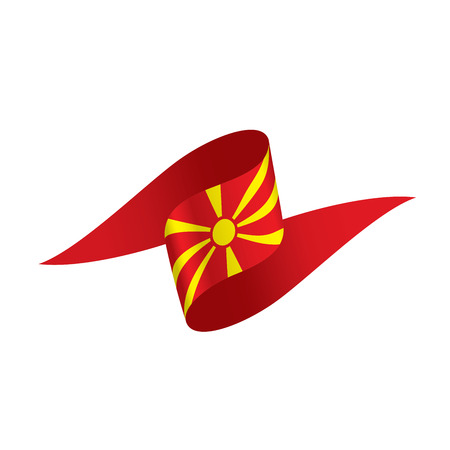 Macedonia flag, vector illustration on a white background