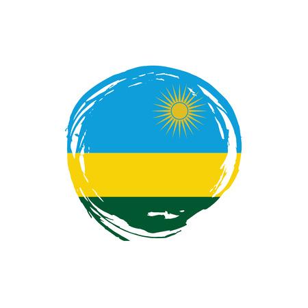Rwanda flag, vector illustration