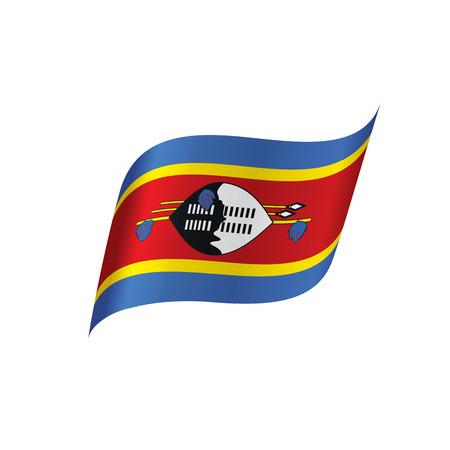 Swaziland flag, vector illustration Illustration