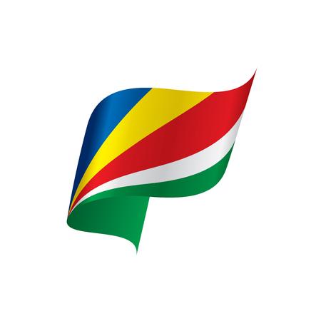 Seychelles flag, vector illustration on a white background Иллюстрация