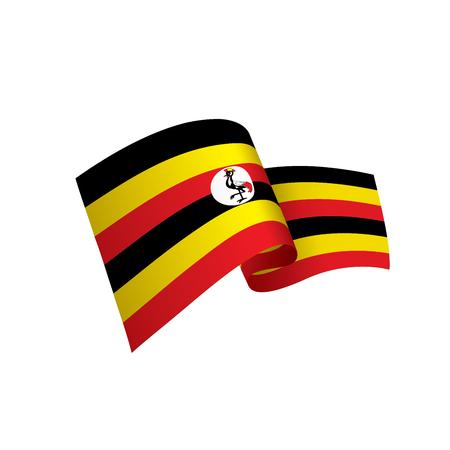 Vlag van Oeganda, vectorillustratie op een witte achtergrond Vector Illustratie