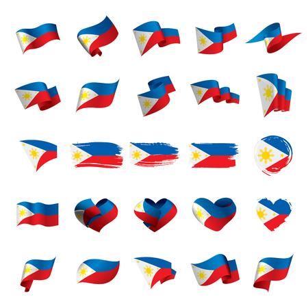 Philippines flag, vector illustration on a white background 版權商用圖片 - 95030043