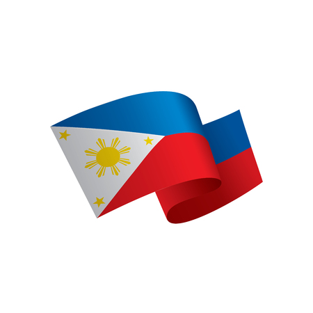 Philippines flag, vector illustration on a white background