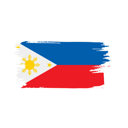 Philippines flag, vector illustration on a white background Imagens - 95030309