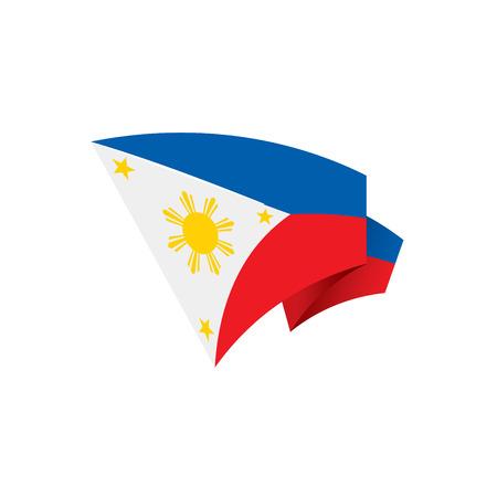 Philippines flag, vector illustration on a white background 版權商用圖片 - 95030641