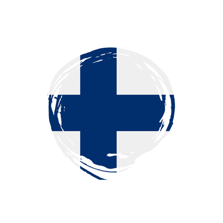 Finland flag, vector illustration
